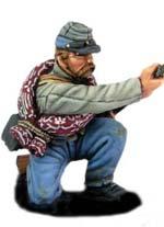 Soldado Confederado Cargando - Escala 28mm