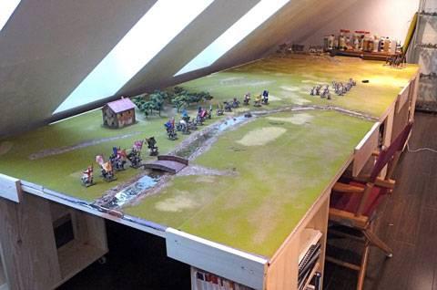 Mesa de Juego para partidas con Wargames Napoleónicos