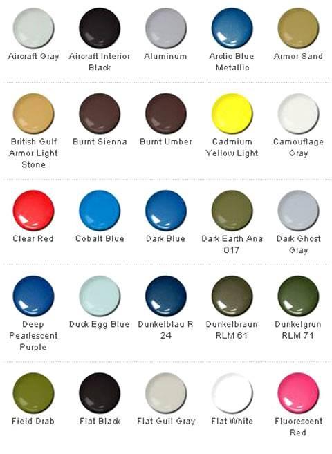 Miniaturas jm colores y equivalencias carta de colores - Gama colores pintura ...