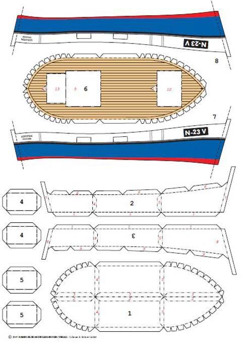 Recortable De Papel De Un Barco Pesquero